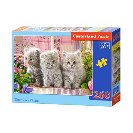 Puzzle Tři šedá koťátka - 260 dílků