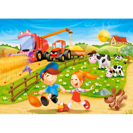 Puzzle Léto na Farmě - 60 dílků