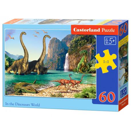 Puzzle Svět Dinosaurů - 60 dílků