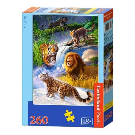 Puzzle Kočkovité šelmy - 260 dílků