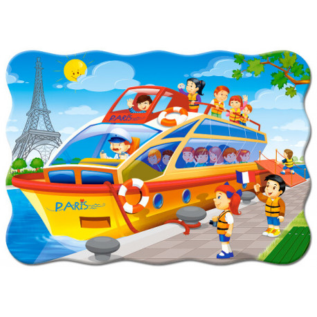 Puzzle Vyhlídková plavba Paříží - 30 dílků, tvarované