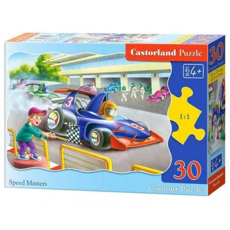Puzzle Závodníci - 30 dílků, tvarované