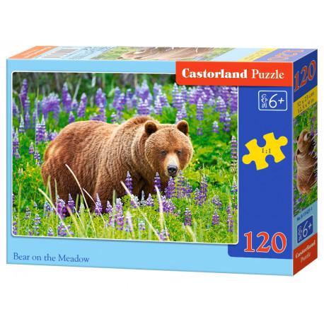 Puzzle Medvěd na louce - 120 dílků