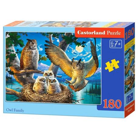 Puzzle Soví rodina - 180 dílků