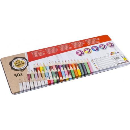 Barevné tužky - sada 50 kusů