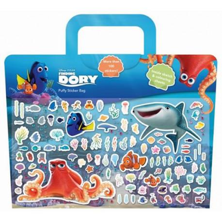 Puffy sticker - samolepkové pozadí + omalovánky, Hledá se Dory