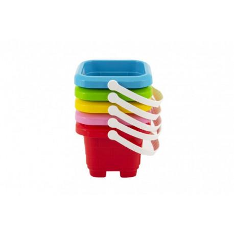 Kyblík na písek hrad - mix barev