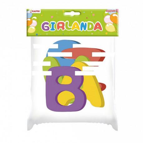 Girlanda ,,BEZVA NAROZENINY,, - papírová