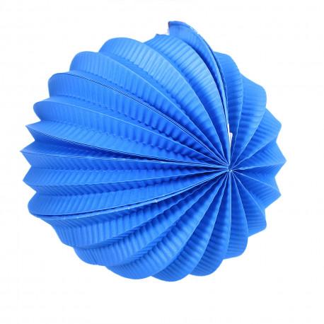Lampion koule - modrý, papírový
