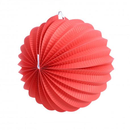Lampion Koule - červený, papírový