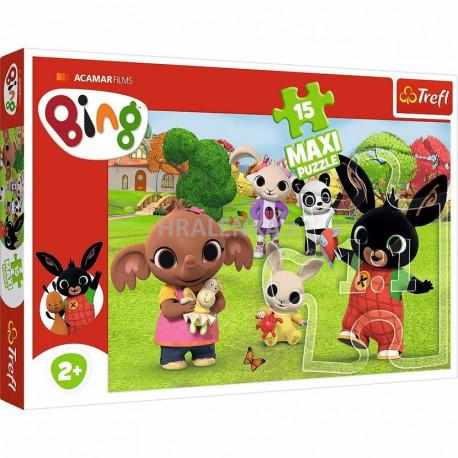 Puzzle Bing - 15 dílků, Maxi