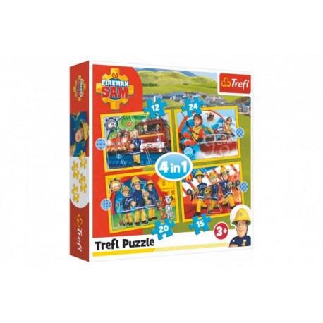 Puzzle - Požárník Sam , 4 v 1