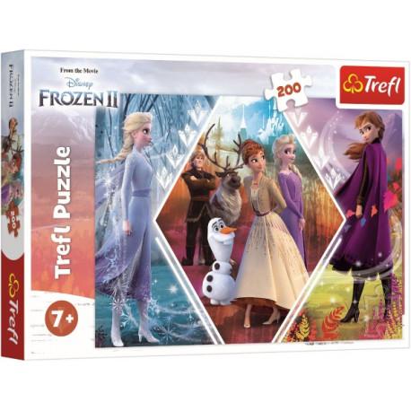 Puzzle - Ledové království/Frozen, 200 dílků