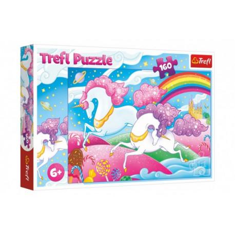 Puzzle - Cválající Jednorožci, 160 dílků