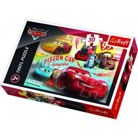 Puzzle - Auta/Cars, 30 dílků