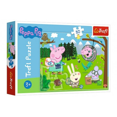 Puzzle - Prasátko Peppa Výlet do lesa, 30 dílků