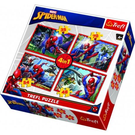 Puzzle - Spiderman, 4 v 1