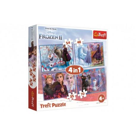 Puzzle - Ledové království/Frozen, 4 v 1