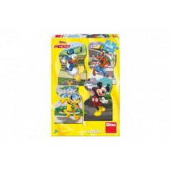 Puzzle - Mickey ve městě, 4 x 54 dílků