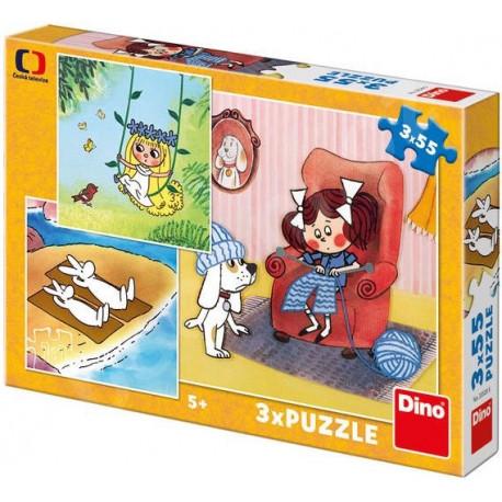 Puzzle - Moje Pohádky, 3 x 55 dílků