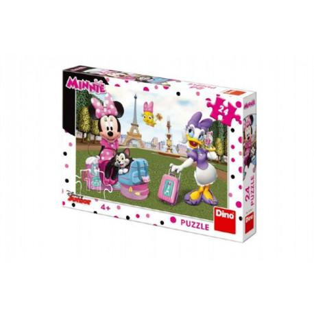 Puzzle - Minnie v Paříži, 24 dílků