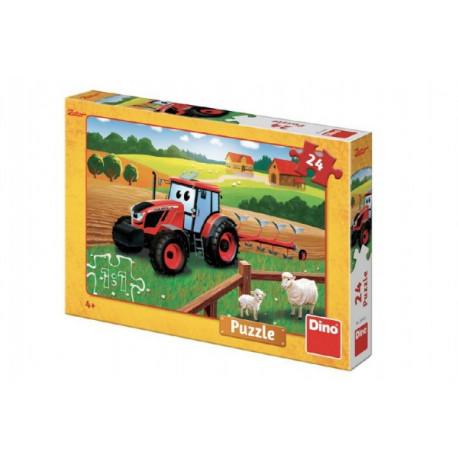 Puzzle - Traktor Zetor, 24 dílků