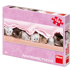 Puzzle - Koťátka pod dekou, 150 dílků