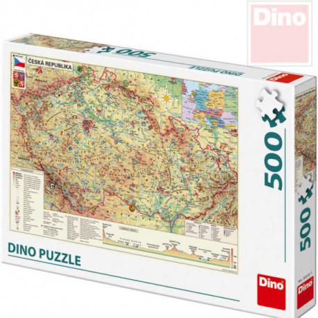 Puzzle - Mapa České republiky, 500 dílků