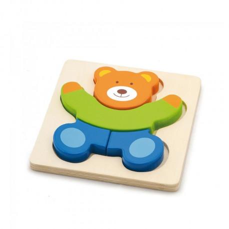 Dřevěné puzzle - medvídek