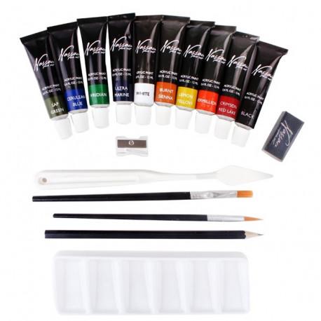 Akrylové barvy - 18ti dílná sada