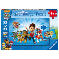Puzzle - Tlapková patrola, 2 x 12 dílků