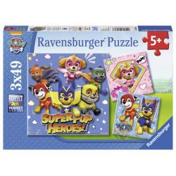 Puzzle - Tlapková patrola, 3 x 49 dílků