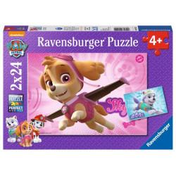 Puzzle - Tlapková patrola, 2 x 24 dílků