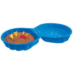 Pískoviště Mušle - modrá, plastová