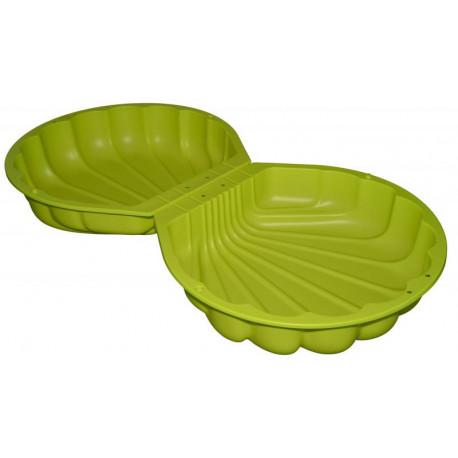 Pískoviště Mušle - zelená, plastová