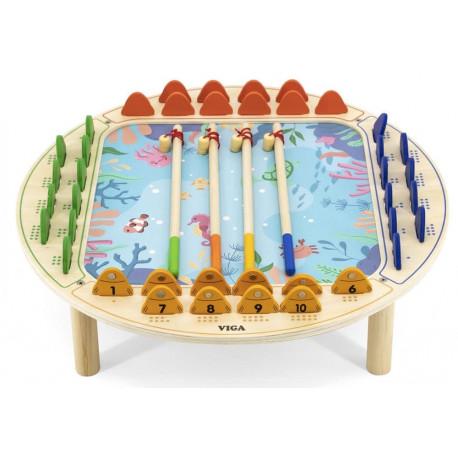 Magnetický Rybolov - dřevěný stolek