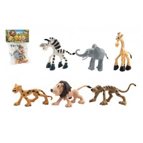 Veselá zvířátka - Safari(zoo), 6 kusů v sáčku