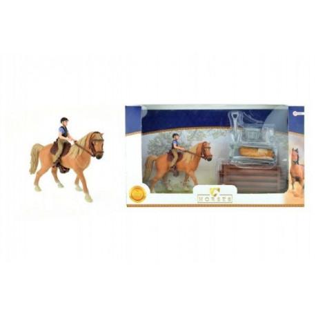 Kůň + žokej s doplňky - plastové