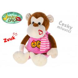 Opice Opica Janica - plyšová, mluvící