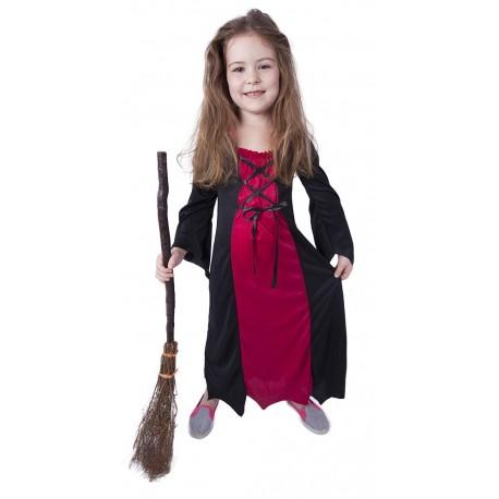 Kostým čarodějnice bordó - velikost S