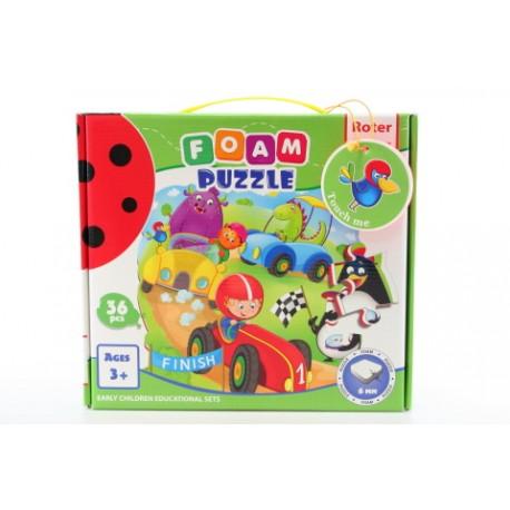Pěnové puzzle - závody