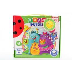 Pěnové puzzle - příšerky 36 dílků