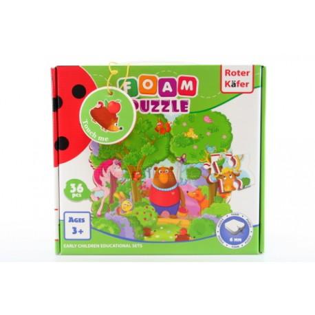 Pěnové puzzle - les