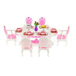 Nábytek pro barbie - jídlení sada