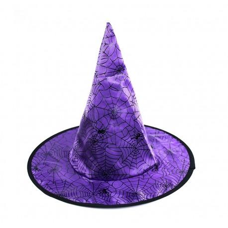 Klobouk čarodějnický fialový - dětský