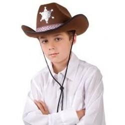 Klobouk kovboj, hnědý - dětský