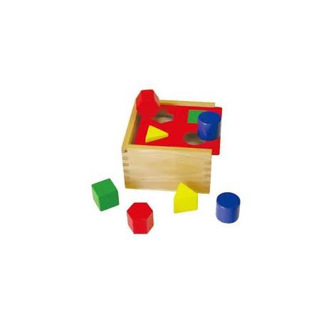 Dřevěná vkládačka - jednoduché tvary