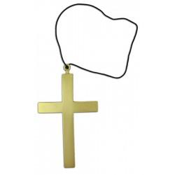 Kříž zlatý - plastový