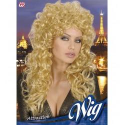 paruka blond kudrnatá, dlouhá