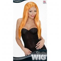 Paruka Glamour oranžová, extra dlouhá